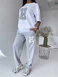 Стильний костюм жіночий спортивний з футболкою, фото 5
