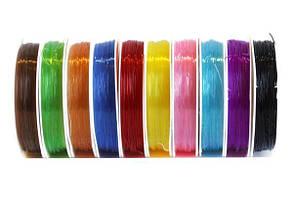 Волосінь кольорова гумка 0,8мм, 10 ярдів 10шт / уп