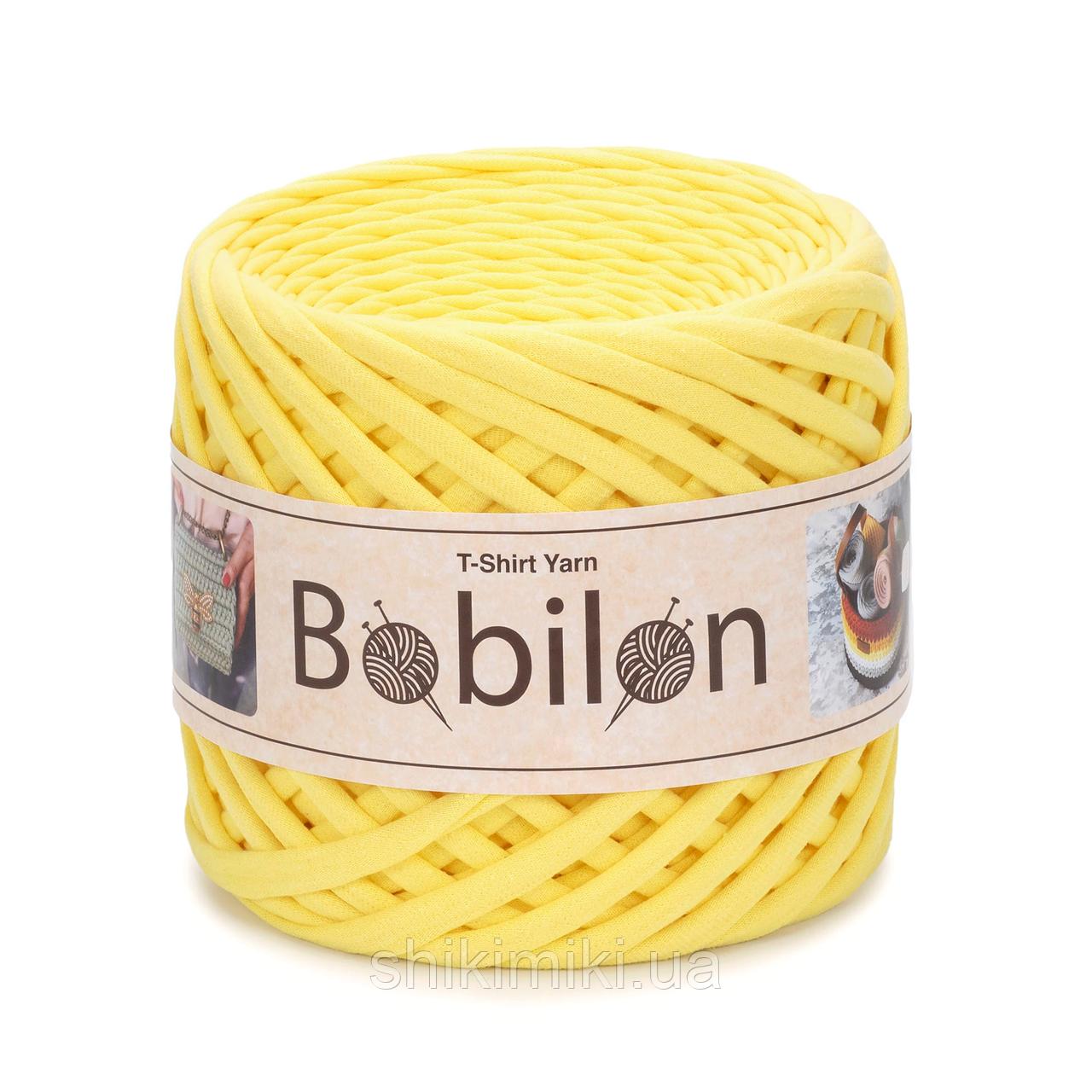 Трикотажная пряжа Bobilon (7-9 мм), цвет Желтый