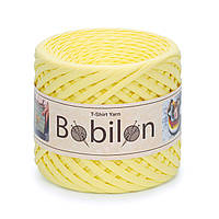 Пряжа трикотажна Bobilon (5-7 мм), колір Лимонний