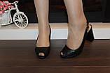 Босоніжки жіночі чорні на підборах Б1109, фото 6