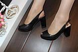Босоніжки жіночі чорні на підборах Б1109, фото 7