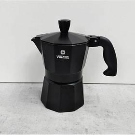 Кофеварка гейзерная (3 порции) 120 мл Vinzer Moka Nero 89394