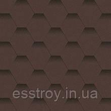 Битумная черепица Мозаика Горный каньон (коричневый+черная тень)