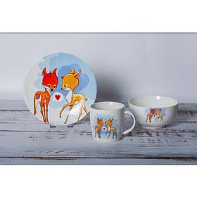 Детский набор столовой посуды Bembi Loves 3 предмета Milika M0690-KS-2001