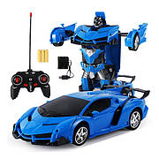 Машинка Трансформер Lamborghini Car Robot Size 18 - Синя