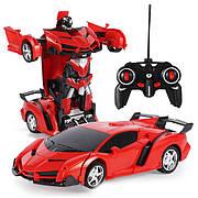 Машинка Трансформер Lamborghini Car Robot Size 18 - Червона