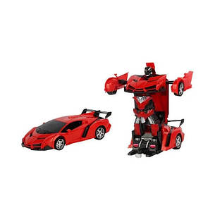Машинка Трансформер Lamborghini Car Robot Size 18 - Червона, фото 2