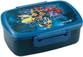 Ланч-бокс прямоугольный Kite Transformers 750 мл на два отсека Синий (TF19-163)