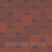 Битумная черепица Мозаика Огненная лава (красный+коричневый)