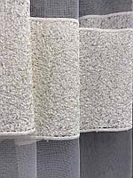 Тюль кремовый из фатина с вышивкой на метраж , висота 3 м, фото 2