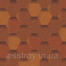 Битумная черепица Мозаика Теплый воск (антик+коричневый+антик)