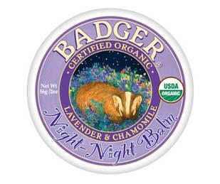 Badger Night Night лаванда, ромашка, алое, сандал, м'ята заспокійливий бальзам для дітей для хорошого сну 56 гр