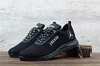Чоловічі текстильні Чорні кросівки Jordan, фото 1