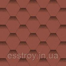 Битумная черепица Мозаика Красный мак (красный+черная тень)