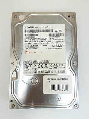 Вінчестер Hitachi 500 GB б.у., фото 2