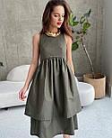 Стильне плаття літнє з подвійною спідницею, фото 3