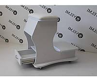 Подставка для педикюра мини тележка педикюрная мобильная подставка пуф для ног Ария29