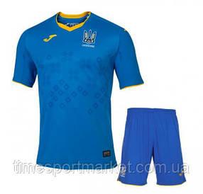 Детская Футбольная форма Сборной Украины 2020-2021 Синяя (ФУТБОЛКА+ШОРТЫ)