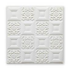 Самоклеющаяся декоративная потолочно-стеновая 3D панель фигуры 700x700x5мм