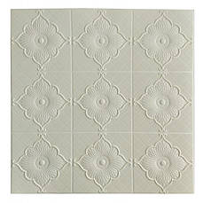 Самоклеющаяся декоративная потолочно-стеновая 3D панель цветок 700x700x5.5мм