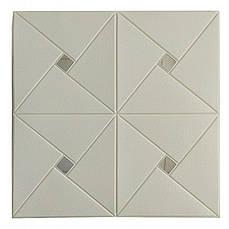 Самоклеющаяся декоративная потолочно-стеновая 3D панель зеркало 700x700х6.5мм