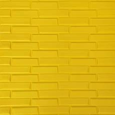 Самоклеящаяся декоративная 3D панель желтая кладка 700х770х7мм