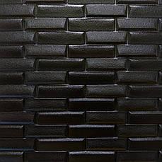 Самоклеящаяся декоративная 3D панель черная кладка 700х770х7мм