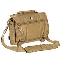 Тактическая наплечная сумка MFH 30695R цвет Coyote Tan