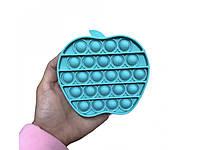 Антистрес сенсорна іграшка Pop It Яблуко Бірюзове, фото 1