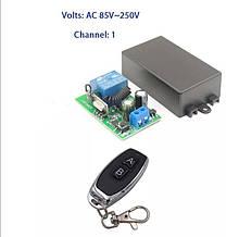 Беспроводной 1 канальный пульт дистанционного управления 85-220 В 433 МГц