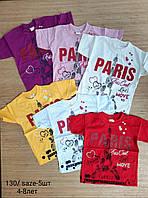 """Футболка для девочек """"Paris"""" 4-8 лет. Турция.Оптом"""