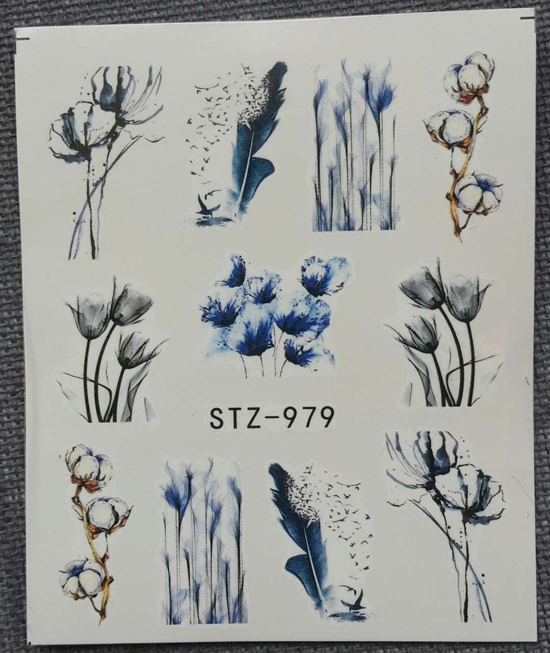 Наклейка для нігтів STZ-979