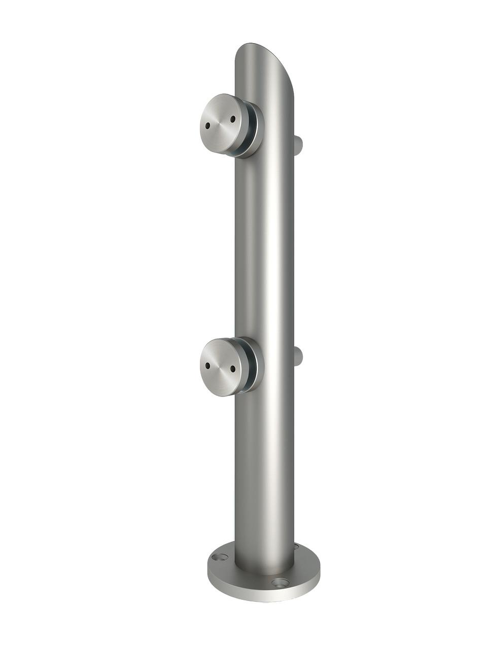 ODF-02-32-01-H370 Стойка с регулировкой коннекторов, высотой H370 mm, d42,4 mm, сатин
