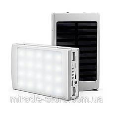 Power Bank 50000 mAh з сонячною батареєю портативний зарядний пристрій повербанк, фото 3