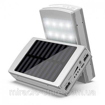Power Bank 50000 mAh з сонячною батареєю портативний зарядний пристрій повербанк, фото 2