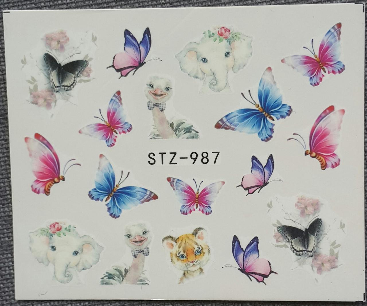 Наклейка для ногтей STZ-987
