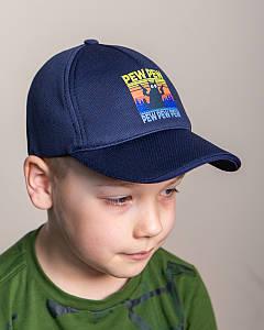 Кепка на весну-літо для хлопчика темно-синя оптом - PEW PEW