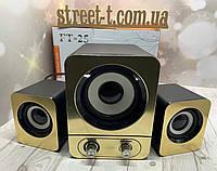 Колонки сабвуфером для компьютера акустическая система для пк подходят к ноутбуку стерео звук от USB