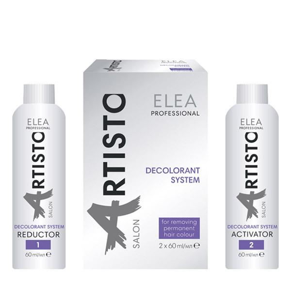 Система для усунення фарби з волосся Elea Professional Artisto Salon Decolorant System 2 шт. х 60 мл