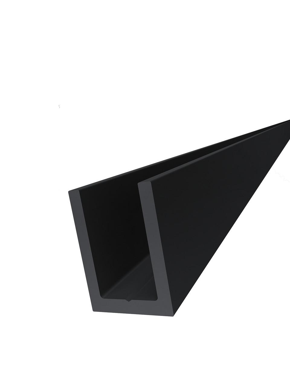 KLC-19-02-21-L2200 Профіль з алюмінію під скло 8 мм, Black Mat