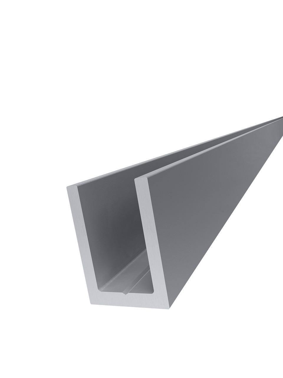 KLC-19-01-03-L2200 Профіль з алюмінію під скло 8 мм, анодований