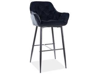 Барный стул CHERRY H-1 Velvet Signal Черный