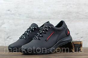 Мужские кожаные кроссовки Черные Jordan