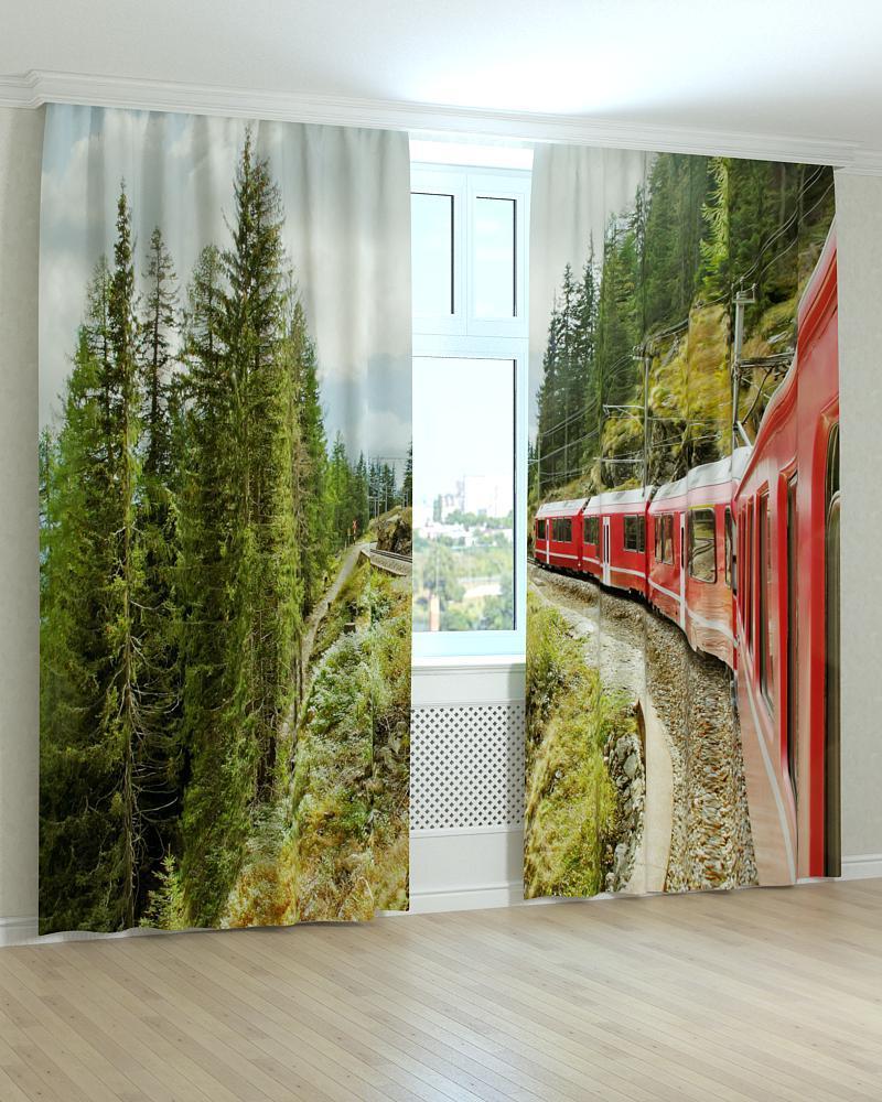 Фотошторы поїзд над урвищем