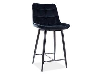 Полубарный стул CHIC H-2 Velvet Signal Черный