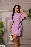 Легке короткий жіноче плаття на літо з коротким рукавом тканина жатка р-ри 42-48 арт. 669