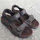 Сандалии мужские кожаные р.41 коричневые Nike, фото 4