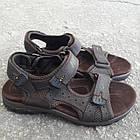 Сандалии мужские кожаные р.41 коричневые Nike, фото 3