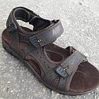 Сандалии мужские кожаные р.41 коричневые Nike, фото 2
